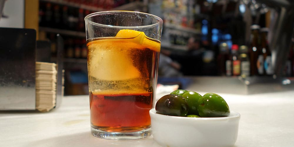 drink in spanish barcelona vermouth